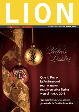 Noviembre · Diciembre 2013 - Clubes de Leones de España