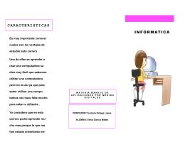 CARACTERISTICAS INFORMATICA