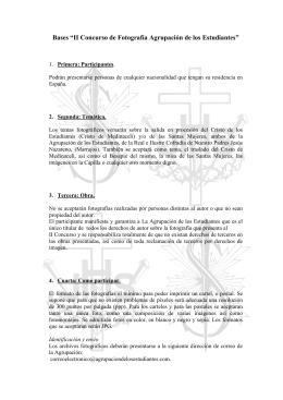 """Bases """"II Concurso de Fotografía Agrupación de los Estudiantes"""""""