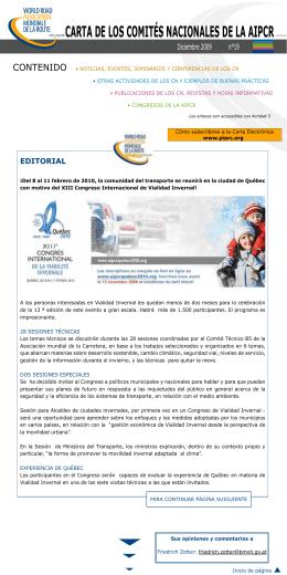 CARTA de los ComiTés nACionAles de lA AipCR