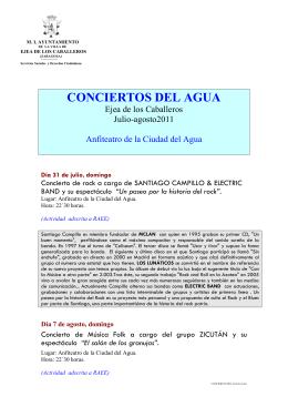 CONCIERTOS DEL AGUA