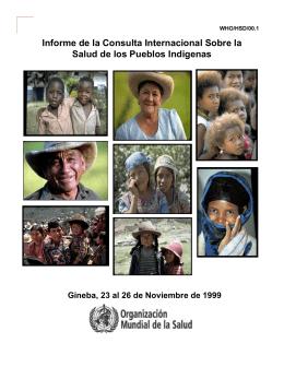 Informe de la Consulta Internacional Sobre la Salud de los Pueblos
