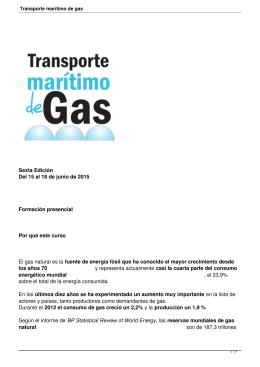 Transporte marítimo de gas