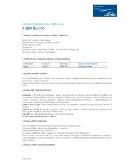 Argón Líquido  - Bienvenido a Linde Argentina