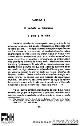 Capitulo 2 El contrato de Nicaragua. El paso a la India