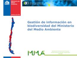 Gestión de información en biodiversidad del Ministerio del Medio