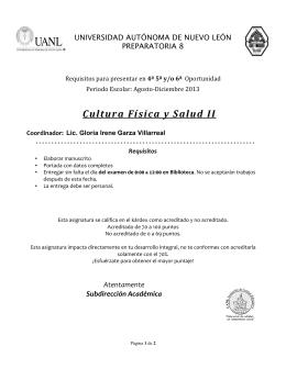Cultura Física y Salud II - Preparatoria 8