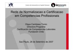 Rede de Normalizacao e Certificacao em Competencias