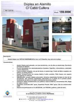 Dúplex en Alamillo C/ Cabo Cullera