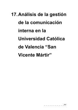 17. Análisis de la gestión de la comunicación interna en la