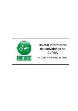 Nº 2, Abril/Mayo de 2012 - CURBA – Ciclistas Urbanos de Albacete