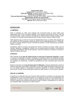 Campaña Interna de Transición ICBC Nombre de