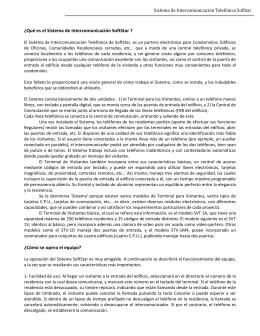 Sistema de Intercomunicación Telefónica SofStar