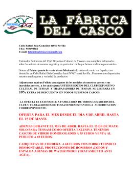 Descargar documento informativo - Club Deportivo Cultural Tussam