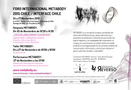 FORO INTERNACIONAL METABODY 2015 CHILE / INTERFACE