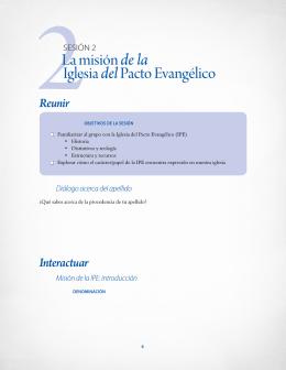 La misión de la Iglesia delPacto Evangélico