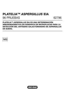 PLATELIA™ ASPERGILLUS EIA 96 PRUEBAS 62796 - Bio-Rad