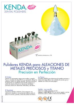 Pulidores KENDA para ALEACIONES DE METALES PRECIOSOS y