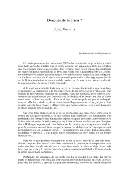 Después de la crisis * - Abel Martín. Revista de estudios sobre