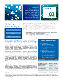 CA Business Service Insight