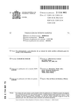 PRE-CALENTAMIENTO Y PRE-REDUCCION DE UN