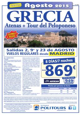 Atenas + Tour del Peloponeso