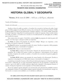historia global y geografía