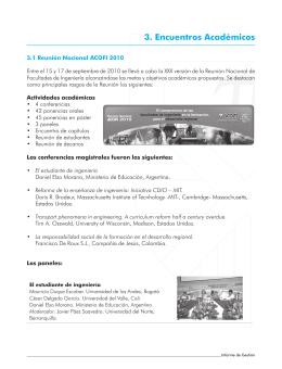 3. Encuentros Académicos
