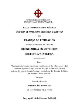 trabajo de titulación licenciado/a en nutricion, dietetica y