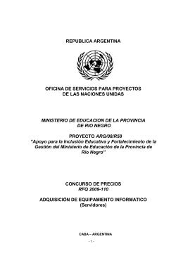 Pliego RFQ 2009-110