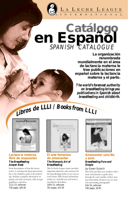 03 Spanish Catalogue - La Leche League International