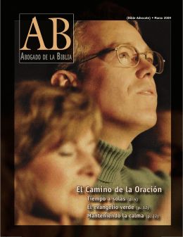 El Camino de la Oración - The Bible Advocate Online