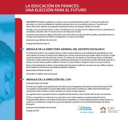 la educación en francés: una elección para el futuro