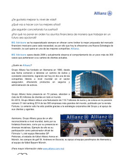 Plan de inversión OptiMaxx Patrimonial Premier con Allianz