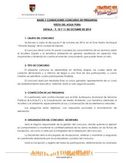 BASES Y CONDICIONES CONCURSO DE PREGUNTAS FIESTA