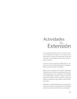 Extensión - Universidad Autónoma de San Luis Potosí