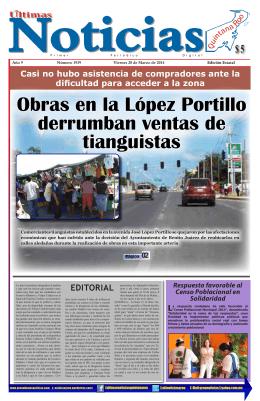 Obras en la López Portillo derrumban ventas de tianguistas