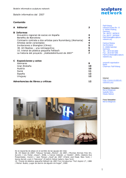sculpture network newsletter 07
