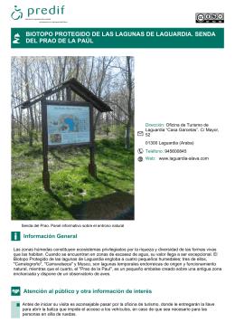 biotopo protegido de las lagunas de laguardia. senda del prao de la