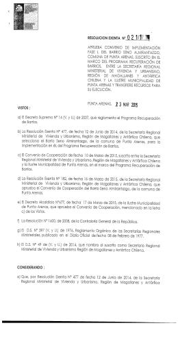 a) El Decreto Supremo N° 14 (V. y U.) de 2007, que reglamenta el