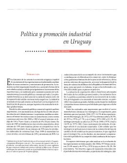 Política y promoción industrial en Uruguay
