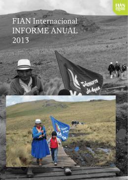 FIAN Internacional INForme ANuAl 2013
