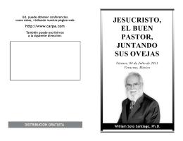 JESUCRISTO, EL BUEN PASTOR, JUNTANDO SUS OVEJAS