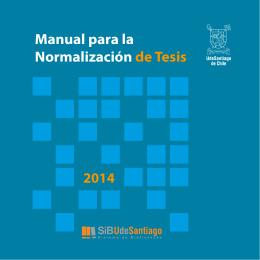 Manual para la Normalización de Tesis