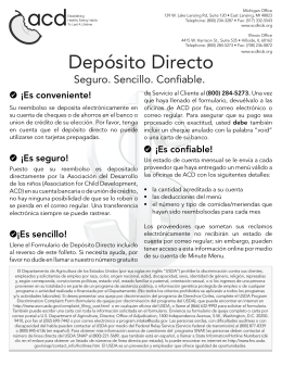 Depósito Directo - The Association for Child Development
