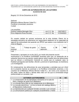 CARTA DE AUTORIZACIÓN DE LOS AUTORES (Licencia de uso
