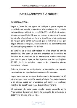 PROYECTO EDUCATIVO LA CERRUDA