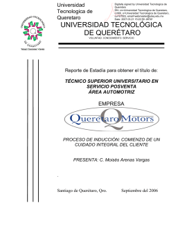 queretaro motors, s,a - Universidad Tecnológica de Querétaro