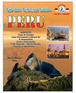 Plan Perú - Vitteza Travel Agencia Viajes Planes Paquetes