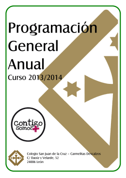 Programación General Anual Curso 2013